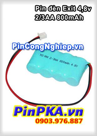 Pin Đèn Exit 4,8v 2/3AA 800mAh